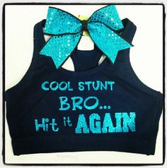 Cool Stunt Bro Hit It Again SportsBra With Matching Sequins Bow on Etsy, $35.00