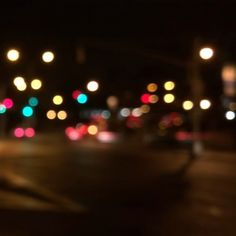 Slow Shutter example Motion Blur - this give a cool bokeh effect on the lights.