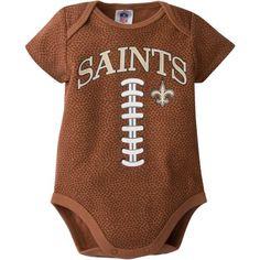 f059244f3a3 NFL New Orleans Saints Baby Boys Football Print Bodysuit - Walmart.com