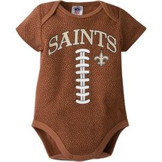 NFL New Orleans Saints Baby Boys Football Print Bodysuit - Walmart.com
