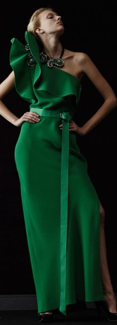 Fab Frock Friday: Gorgeous in Green - Lanvin Resort 2014