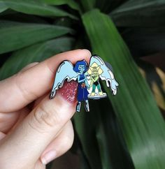 For pride month lapidot pin Septiceye Sam, Steven Universe Lapidot, Lapis And Peridot, Doritos, Pin And Patches, Art Inspo, Watermelon, Fangirl, How To Find Out