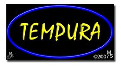 """Tempura Neon Sign - 20"""" x 37""""-ANS1500-6388  37"""" Wide x 20"""" Tall x 3"""" Deep  Flashing Border """"ON/OFF"""" switch  Sign is mounted on an unbreakable black or clear Lexan backing  110 volt U.L. listed transformer fits into a standard outlet  Hanging hardware & chain included  6' Power cord with standard transformer  For indoor use only  1 Year Warranty on electrical components  1 Year Warranty on standard transformers"""