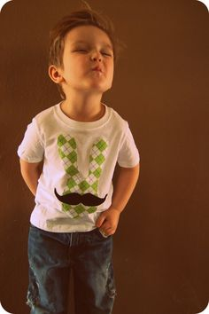 Swanky Shank Boys Easter Shirt The Hipster Mister by SwankyShank, $14.00