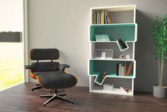 吹き出しぽく?なっているのが面白い本棚だと思いましたー。:shelves