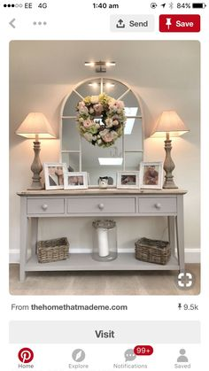20 Cozy Living Room Decorating Ideas 2019 Some elements from this will be a nice idea for a hallway table for us. The post 20 Cozy Living Room Decorating Ideas 2019 appeared first on Entryway Diy. Decoration Hall, Decoration Shabby, Hall Way Decor, Living Room On A Budget, Cozy Living Rooms, Sitting Rooms, Living Room With Stairs, House Ideas On A Budget, Ideas For Living Room