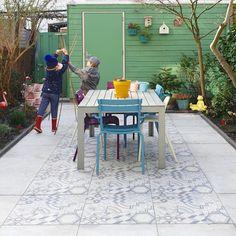 Balcony Flooring, Backyard, Patio, Outdoor Furniture Sets, Outdoor Decor, Celebrity Weddings, Garden Inspiration, Shade Garden, Sweet Home