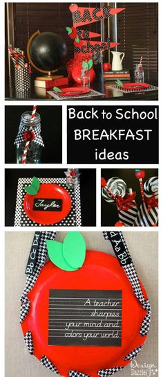Make back to school breakfast or dinner idea a fun family tradition. Free printable: A teacher sharpies your mind and colors your world!
