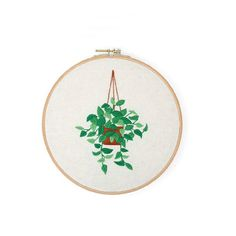 Hand embroidery kit beginner Modern DIY Embroidery Plant Handcraft Needlework Cross Stitch Kit Cotton Embroidery Painting Hoop Home Decor Cross Stitch Fabric, Cross Stitch Embroidery, Hand Embroidery, Embroidery Materials, Embroidery Patterns, Needlepoint Kits, Sewing Tools, Diy Craft Projects, Flower Patterns