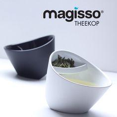 Magisso theekop zwart en wit.