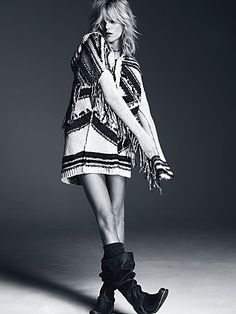 Free People Geo Fringe Hooded Cardigan- Available at smashed jewels Boutique