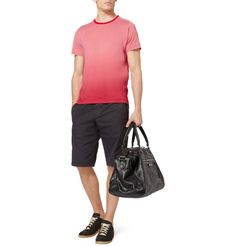 CLICK TO ZOOM        BALENCIAGA OMBRE-EFFECT COTTON-JERSEY T-SHIRT