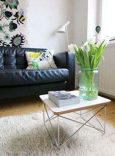 Via Uusi Muste   Eames Side Table   AJ Floor Lamp   Black White