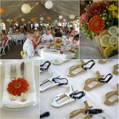 Tangerine with a Twist: The Real Wedding of Stephanie and Eugene