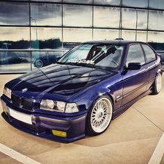Bmw E36 Compact, E36 Coupe, Stance Nation, Bmw Cars, Car Stuff, Slammed, Bmw M3, Cool Cars, Euro