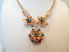 Vintage Gold Filligree Necklace with by TimelessTreasuresbyM