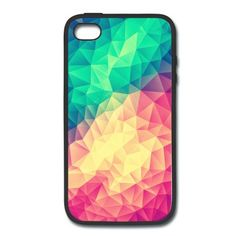 Farbenfrohes Regenbogen Handycover Design ideal für Trendsetter. Abstraktes Dreieck Kunstwerk für dein Handy. Minimales Zeitloses Hipster Geometrie Muster. Coole Accessoires perfekt zum verschenken.