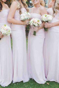Blush Bridesmaid Dresses Pinterest