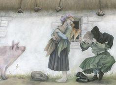 An Illustrated Treasury of Scottish Folk and Fairy Tales/ Theresa Breslin/ Floris Books, 2012.  Illustrator: Kate Leiper