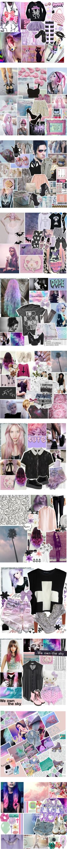 """The Best of Pastel Goth"" by metronomeorchid ❤ liked on Polyvore"