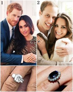 """1,127 Likes, 36 Comments - Catherine Duchess Of Cambridge (@katemidleton) on Instagram: """"A look back at the royal engagement rings over the years: 1. Prince Harry & Meghan Markle, 2017.…"""""""