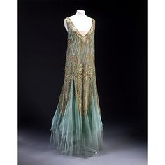 Evening dress and slip by Jean-Charles Worth, c.1927; Victoria and Albert ...    sferenczpublichistory.blogspot.com