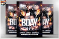 A Cool club flyers & party flyer templates or posters collection. All these Flyer psd templates can be tagged as - best cheap flyers online! Birthday Flyer, 12th Birthday, Birthday Bash, Event Flyer Templates, Flyer Design Templates, Photography Flyer, Halloween Flyer, Flyer Free, Club Flyers
