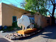 Buffalo Sculpture, Canyon Road, Santa Fe, NM.