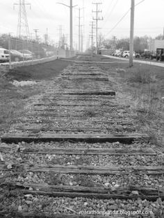 The abandoned Chicago North Shore and Milwaukee Railroad in Skokie just north of Golf Road. The Union Pacific, which owns the right-of-way, collected the rails for scrap.