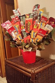 Items similar to Happy Valentine's Day Candy Bouquet Deluxe Nut and Candy Bouquet Birthday Bouquet Arrangement Candy Bar Bouquet on Etsy Deluxe Nut and Candy Bouquet Valentine's Bouquet by AnitaEvelyn 21st Birthday Basket, Birthday Candy, Bff Birthday, Valentine Bouquet, Birthday Bouquet, Valentines Day Baskets, Happy Valentines Day, Candy Bar Bouquet, Movie Basket Gift