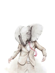 Elephant Dance Art Print