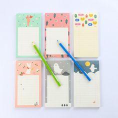 Korean Stationery Animal Sheep Rabbit Bird Moon Cute Kawaii Sticky Notes Post It Memo Pad School Supplies Planner Stickers Paper