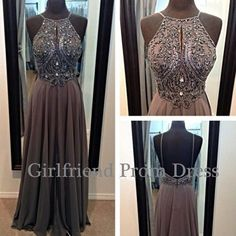 2015 cute aline chiffon vintage backless long prom dress with strap, ball gown, cute+dress+for+tens,bridesmaid dress,evening dress #promdress #wedding