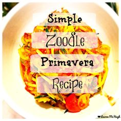 I am obsessed with zoodles now! They are so easy to make! CLICK the pin to view the recipe with all the steps and what I added to this delicious dish! #zoodles #cleaneating #vegan #easyveganmeals