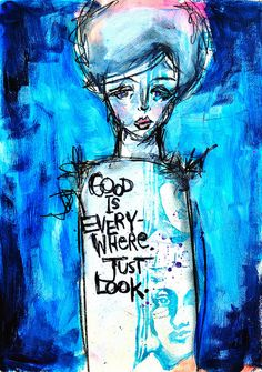 LOOK . . . good is everywhere dina wakely - a beauty in blue