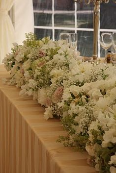 Long flower arrangement