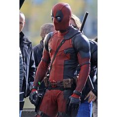 Deadpool fans will love this movie set gallery print showing actor Ryan Reynolds waiting to shoot a scene. Ready for framing. - Ships only within the United States via USPS Priority Mail (2-3 days) -