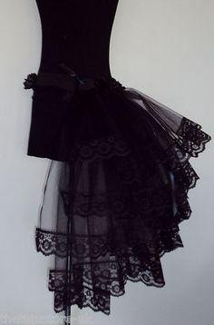 Burlesque Moulin Rouge Bustle Black Belt 20 22 24 26 Sexy Lace Dita   eBay
