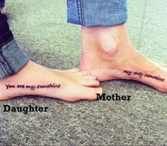 Mother Daughter Tattoos so cute