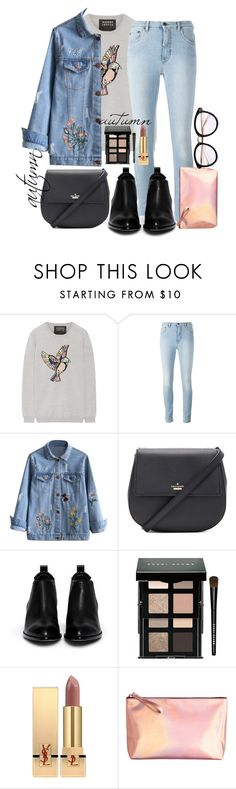 """""""Untitled #90"""" by theresabluenight ❤ liked on Polyvore featuring Markus Lupfer, Kate Spade, Alexander Wang, Bobbi Brown Cosmetics, Yves Saint Laurent, hashtag, look and autumn"""