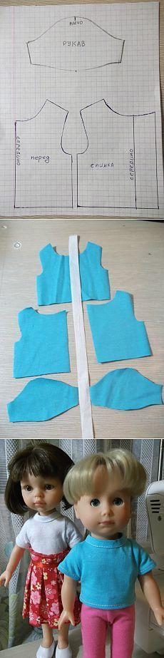 Vamos a coser camiseta))) / clases magistrales, talleres creativos: lecciones, gráficos, patrones de muñecas con sus manos / Beybiki. Muñecas de fotos. Ropa para muñecas