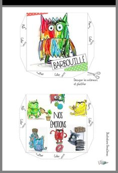 Les Sentiments, Illustrations, Map, Montessori, Colors, Feelings Chart, Preschool, Love, Children