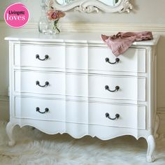 Provencal Classic White Chest of Drawers  |  Drawers & Cabinets  |  Storage  |  French Bedroom Company