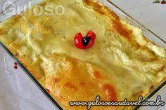 A dica para o #jantar é a Lasanha de Queijo e Presunto, mas em versão mais leve, quem a experimentou AMOU!    #Receita aqui: http://www.gulosoesaudavel.com.br/2013/01/16/lasanha-queijo-presunto/
