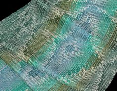 Handwoven Scarf, Bamboo Hand Woven Scarf, Edgy Floral Design by Loom on the Lake