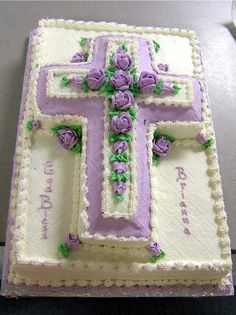 lavender cross cake.  I have actually made this cake before