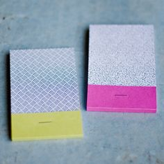 this & that – matchbook notepads by one fine dae