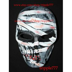 Army of two Airsoft Paintball BB Softair Gun Prop Helmet Salem Costume Cosplay Goggle Mask Maske Masque The mummy MA112 et