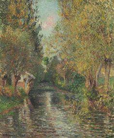 Camille Pissarro (1830-1903)  Le lavoir de Bazincourt