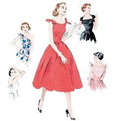Butterick - B5708 Retro jurk in meerdere variaties   Naaipatronen.nl   zelfmaakmode patroon online